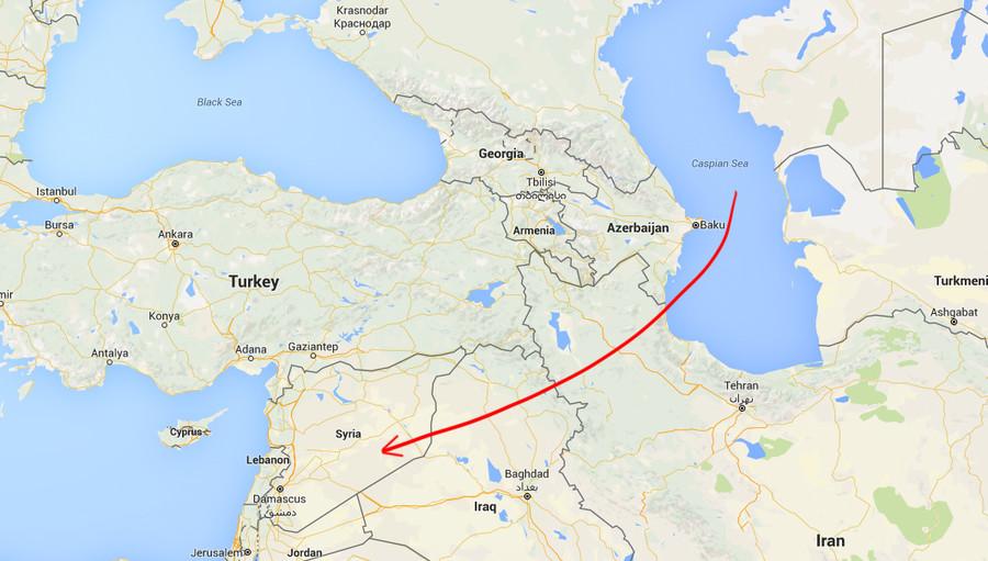 Rusové střílí na ISIS na vzdálenost  1500 kilometrů